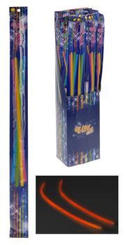 Glow in dark sticks 2 stk - 55 cm.