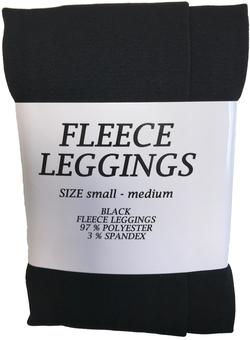 Fleece Leggings S/M - sort
