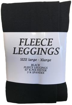 Fleece Leggings L/XL - sort
