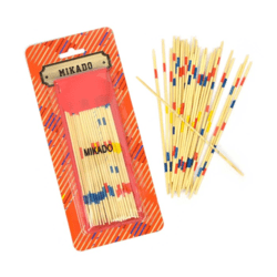 MIKADO WOODEN ON CARD 30pcs 18cm