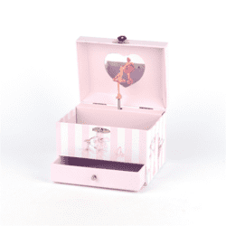 MUSIC BOX ANGEL w HEART MIRROR 15x11cm