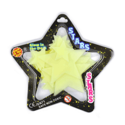 STAR GLOW IN THE DARK 24pcs 16.5cm