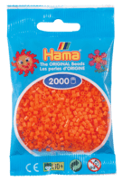 Hama mini perler orange 501-04