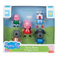 Peppa Pig Fancy Dresses 5-pack Figures