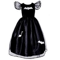 WITCH DRESS SILVER BAT (6-7 YEARS)
